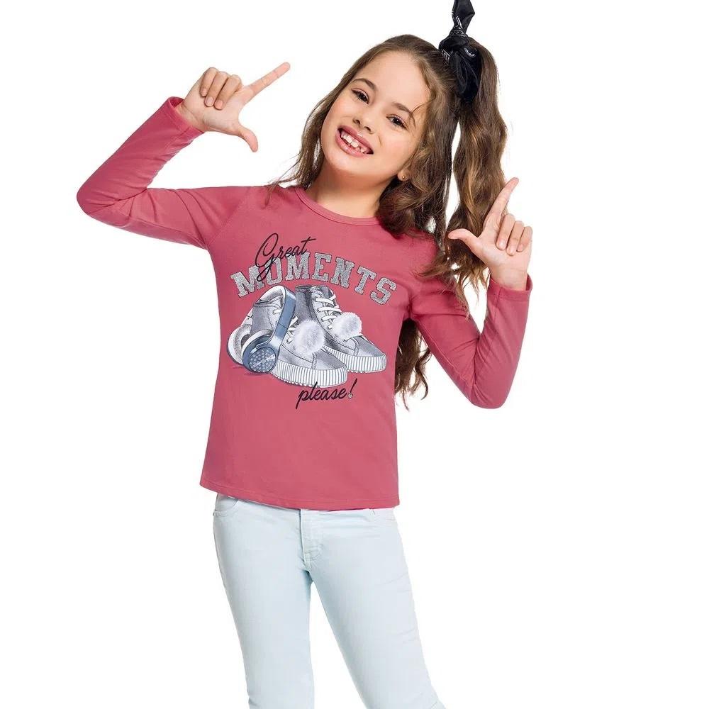 Blusa Infantil Feminina Meia Malha  - KYLY 207395