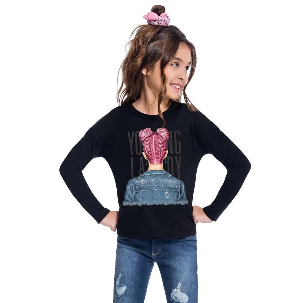 Blusa Infantil Feminina Meia Malha - KYLY 207396
