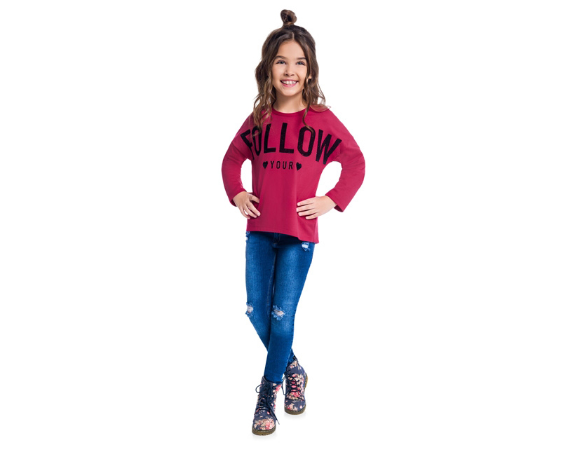 Blusa Infantil Feminina Moletinho - KYLY 207143