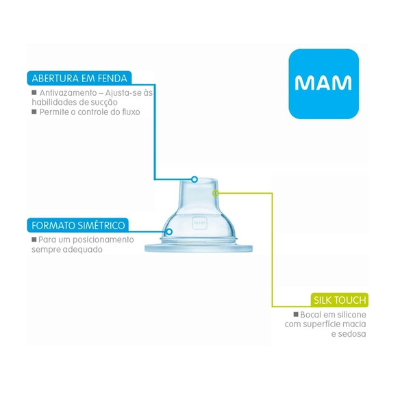 BOCAL EXTRAMACIO DE SILICONE (TRAINER+) PARA COPOS - MAM 7123
