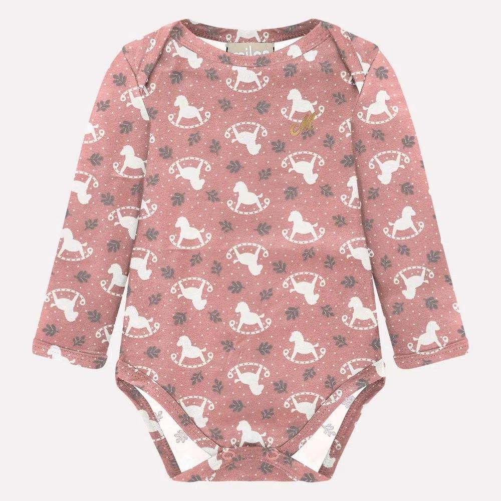 Body Bebê Feminino Cotton - MILON 10708