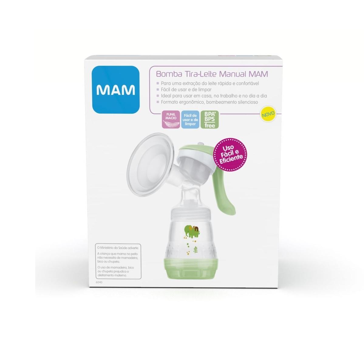 Bomba Extratora Tira Leite Materno Manual Breast Pump Mam 6040