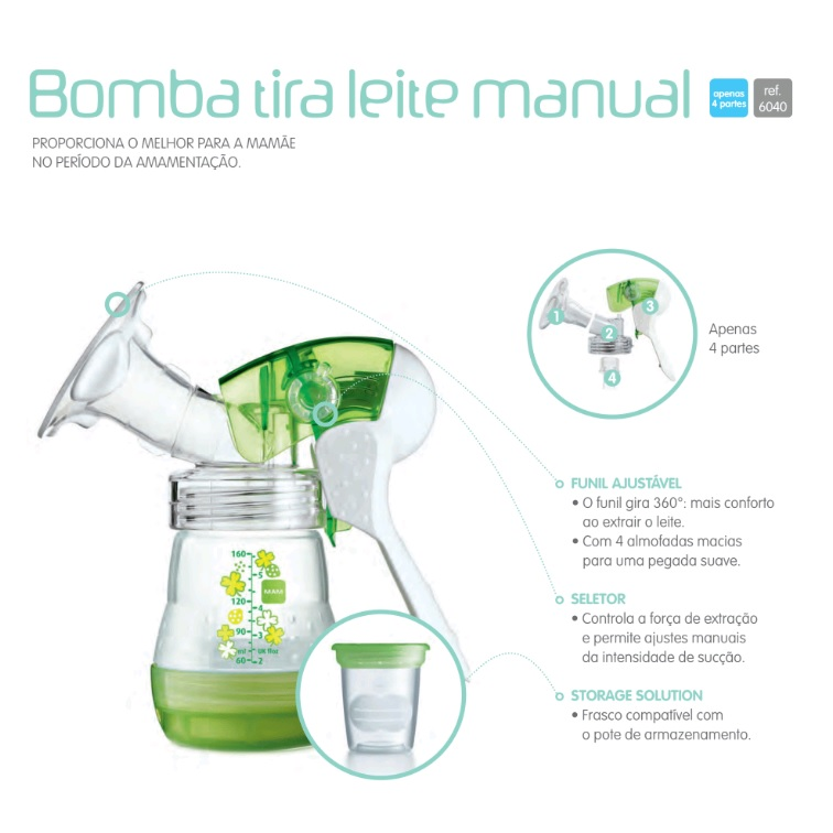 BOMBA TIRA LEITE MANUAL - MAM 6040