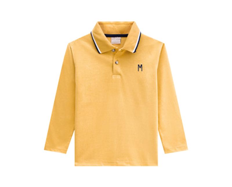 Camisa Polo Infantil Masculina Meia Malha - MILON 12311