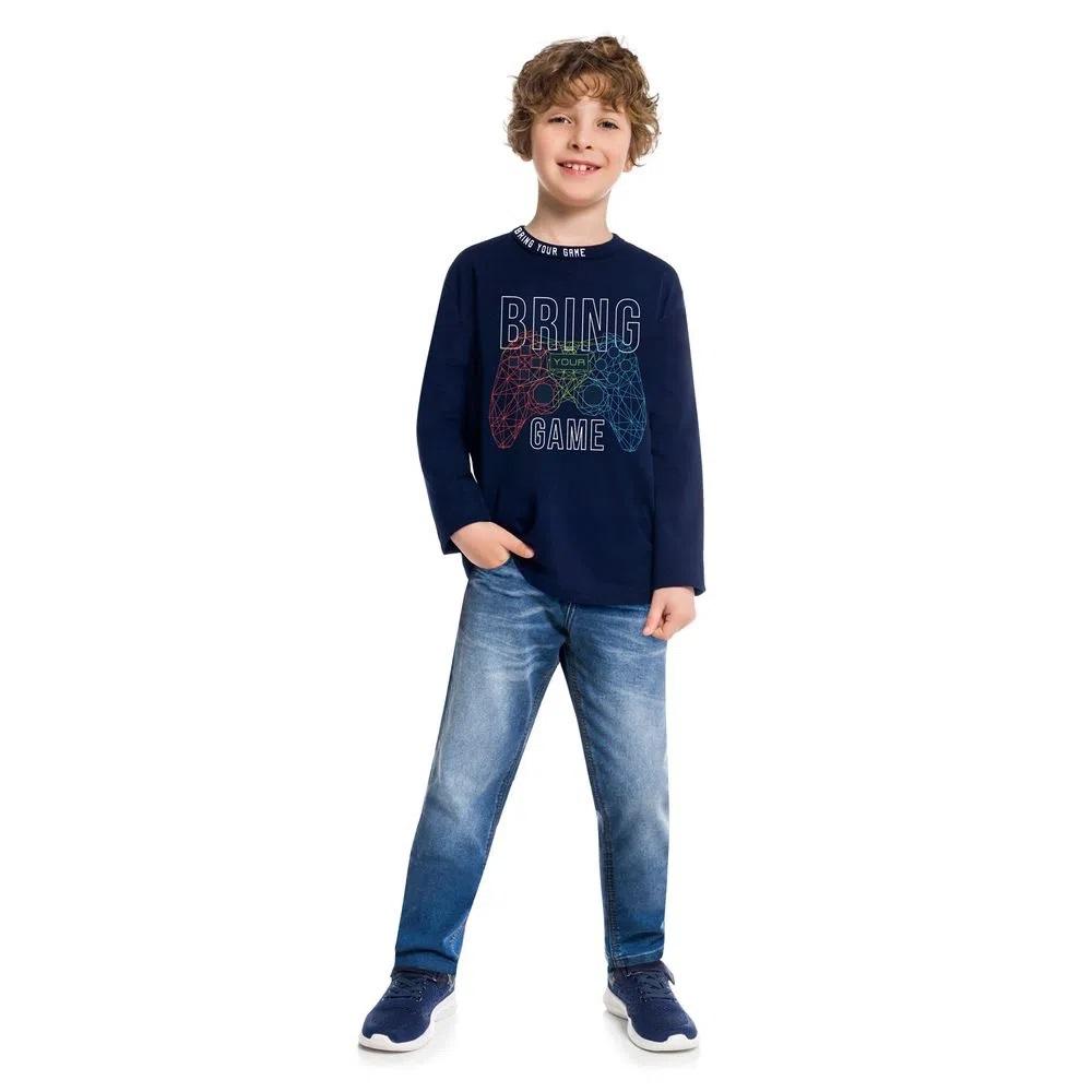 Camiseta Infantil Masculina Meia Malha - KYLY 207479