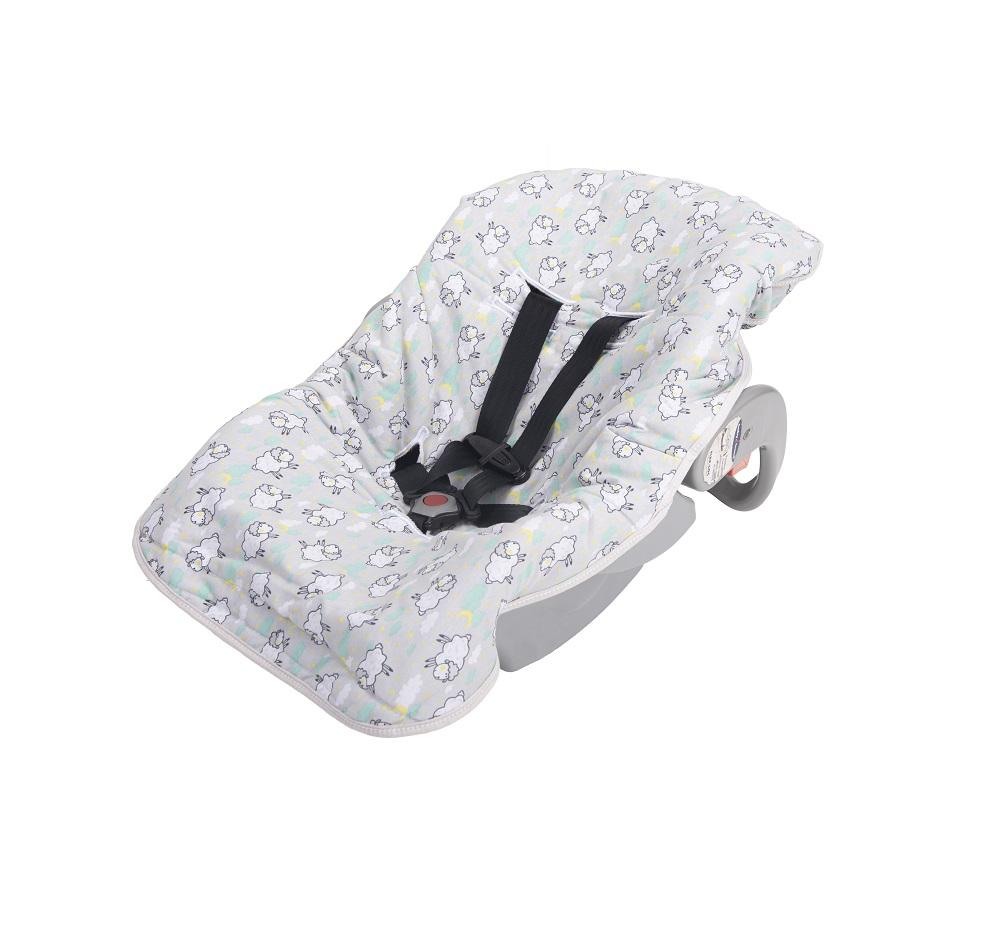 Capa para Bebê Conforto de Malha Bambi - Ovelhas