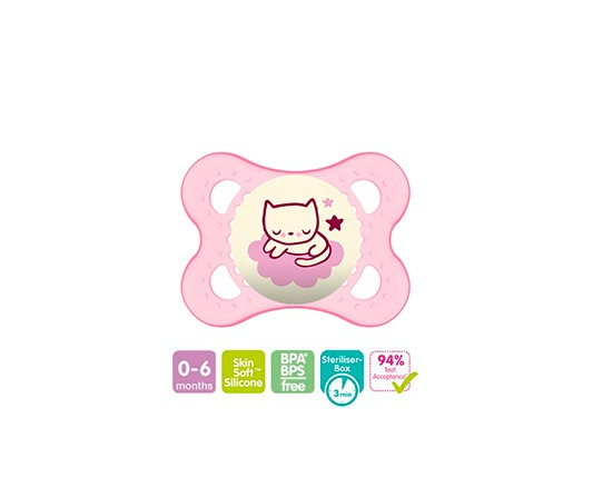 CHUPETA ORIGINAL NIGHT ROSA 0-6M - MAM 2726