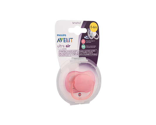 CHUPETA ULTRA AIR ROSA 0-6M - PHILIPS AVENT SCF445/10