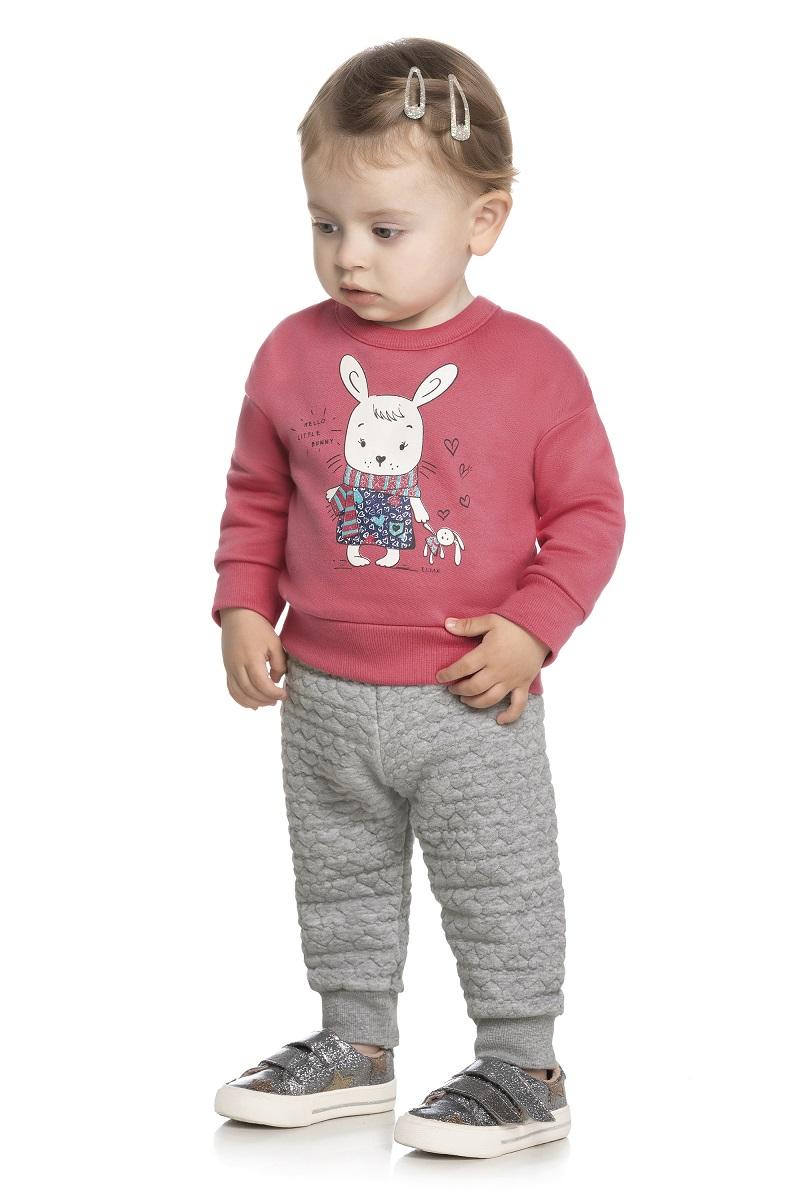 Conjunto Infantil Feminino Blusa e Calça - ELIAN 211127
