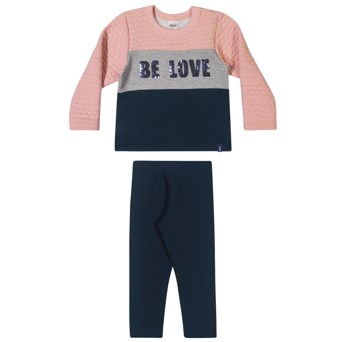 Conjunto Infantil Feminino Blusa e Calça - ELIAN 231454