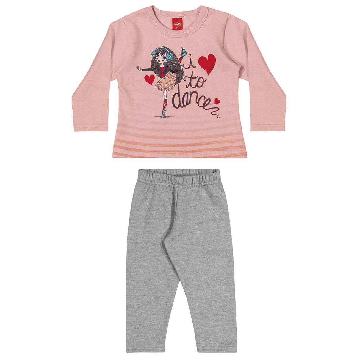 Conjunto Infantil Feminino Blusa e Calça - ELIAN 231473