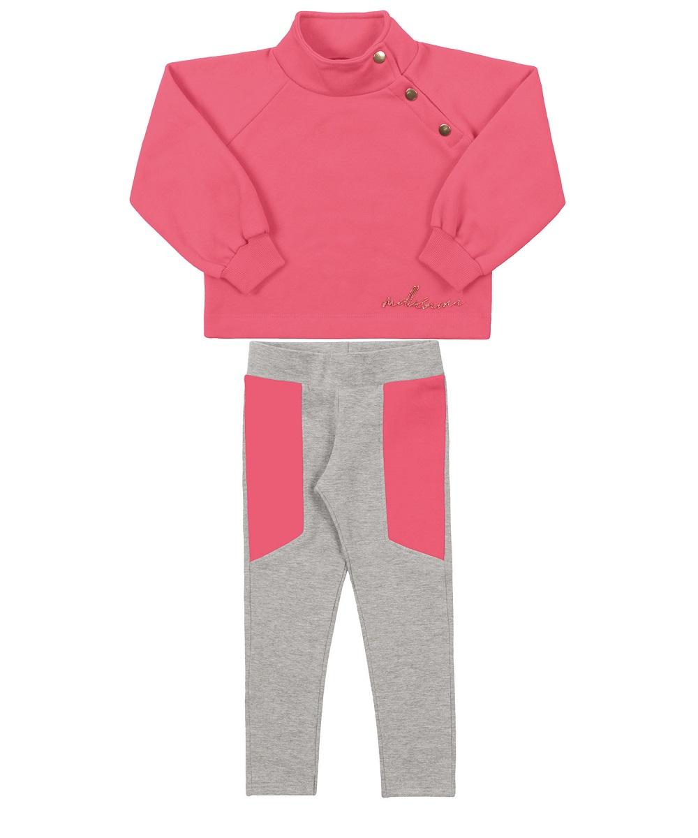 Conjunto Infantil Feminino Blusa e Calça - MARLAN 27116
