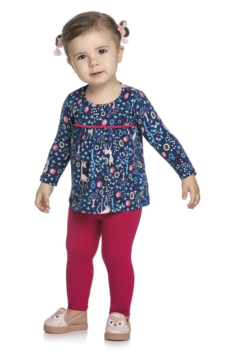 Conjunto Infantil Feminino Blusa e Legging - ELIAN 211122