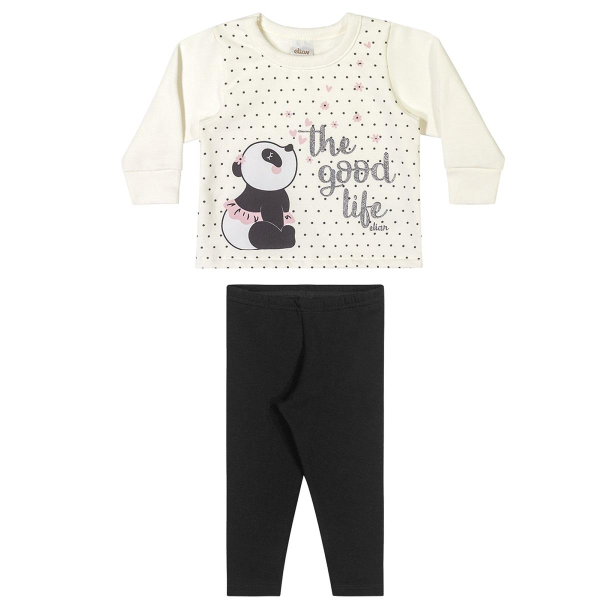 Conjunto Infantil Feminino Blusa e Legging - ELIAN 211125
