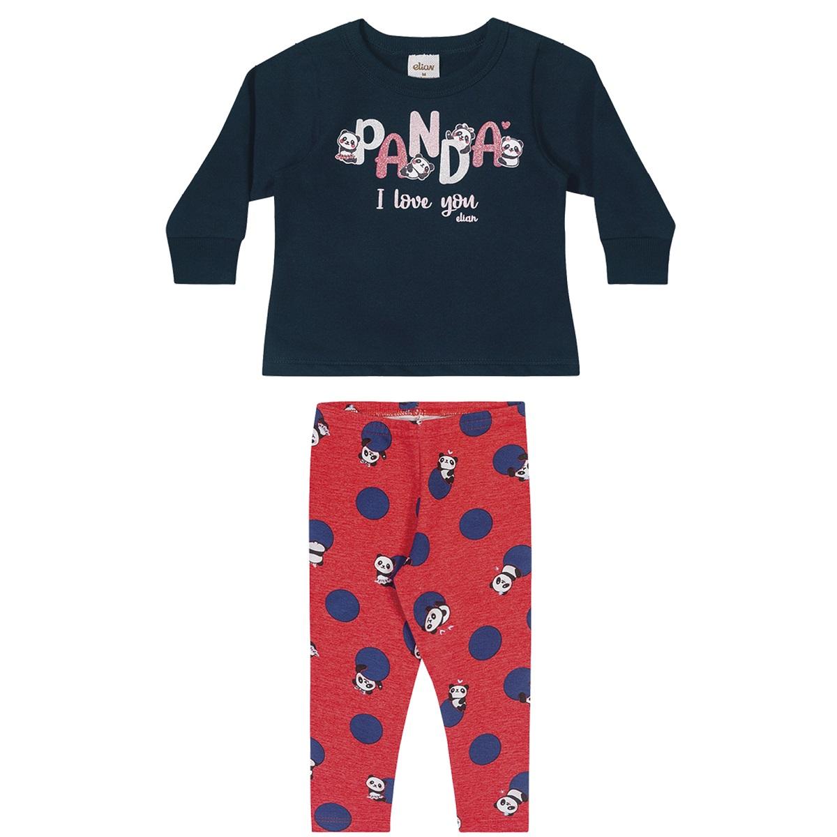 Conjunto Infantil Feminino Blusa e Legging - ELIAN 211126