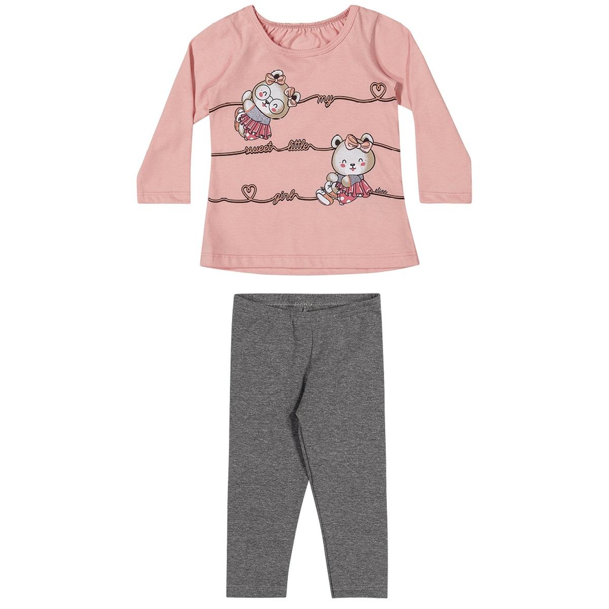 Conjunto Infantil Feminino Blusa e Legging - ELIAN 211141