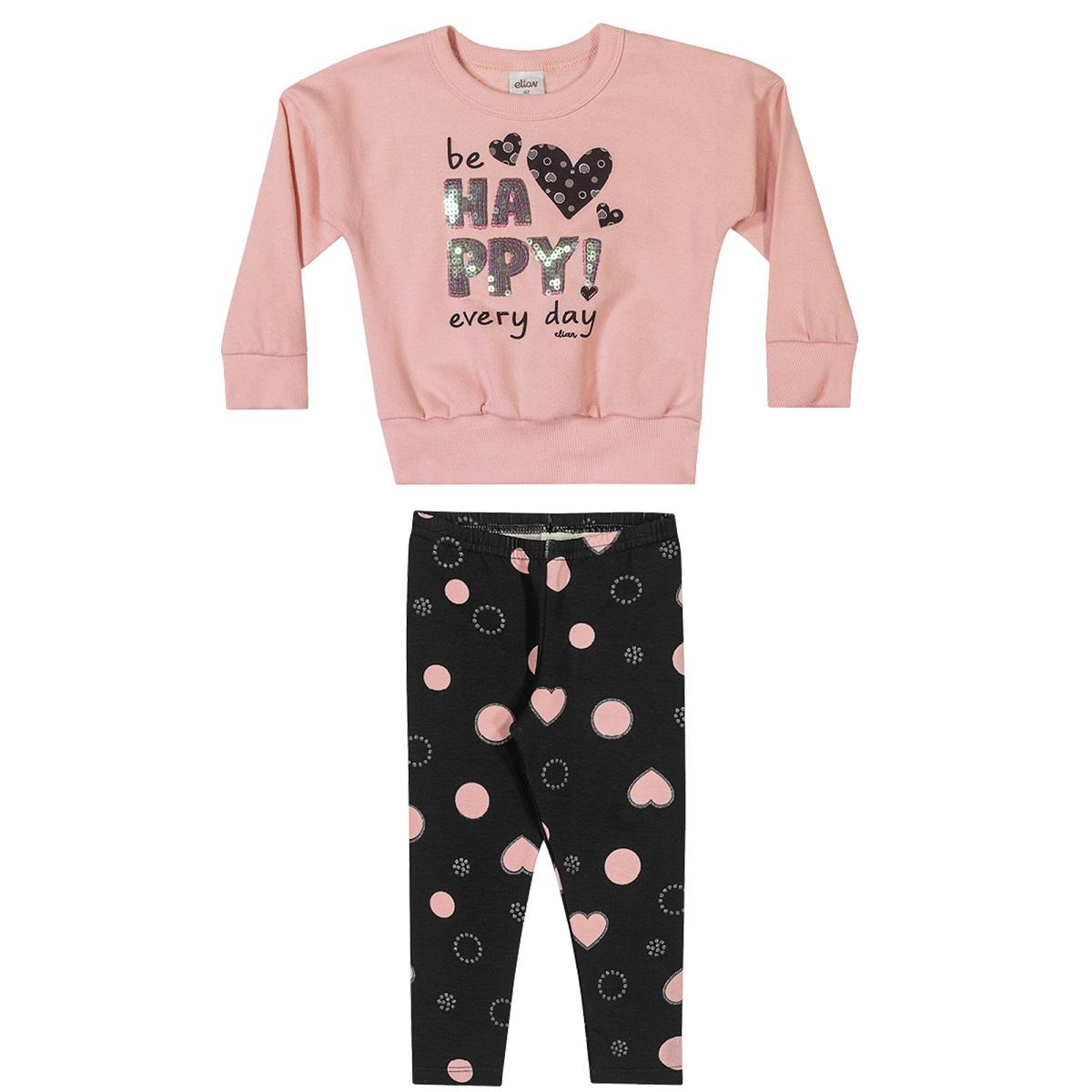 Conjunto Infantil Feminino Blusa e Legging - ELIAN 231452