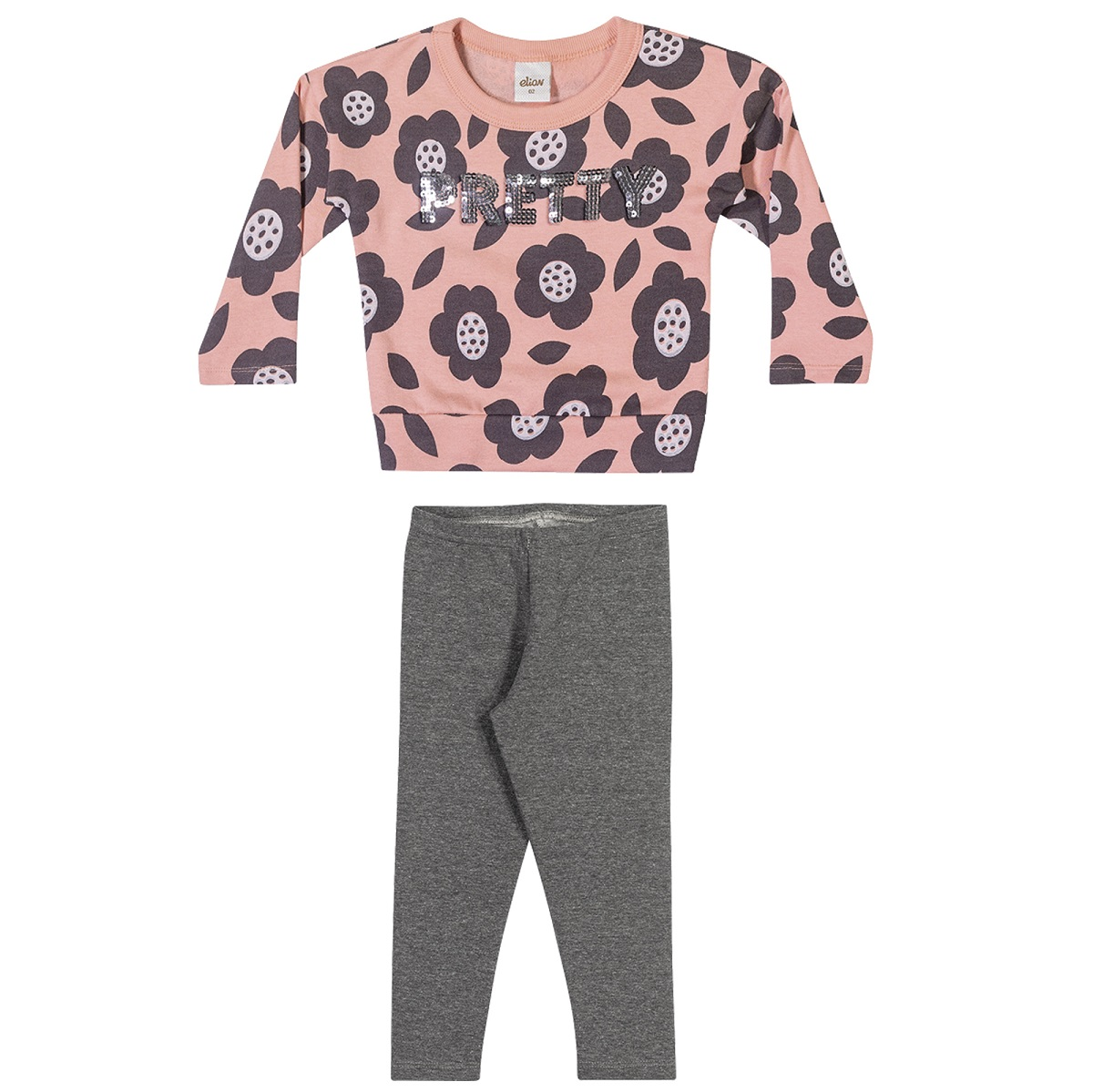 Conjunto Infantil Feminino Blusa e Legging - ELIAN 231453