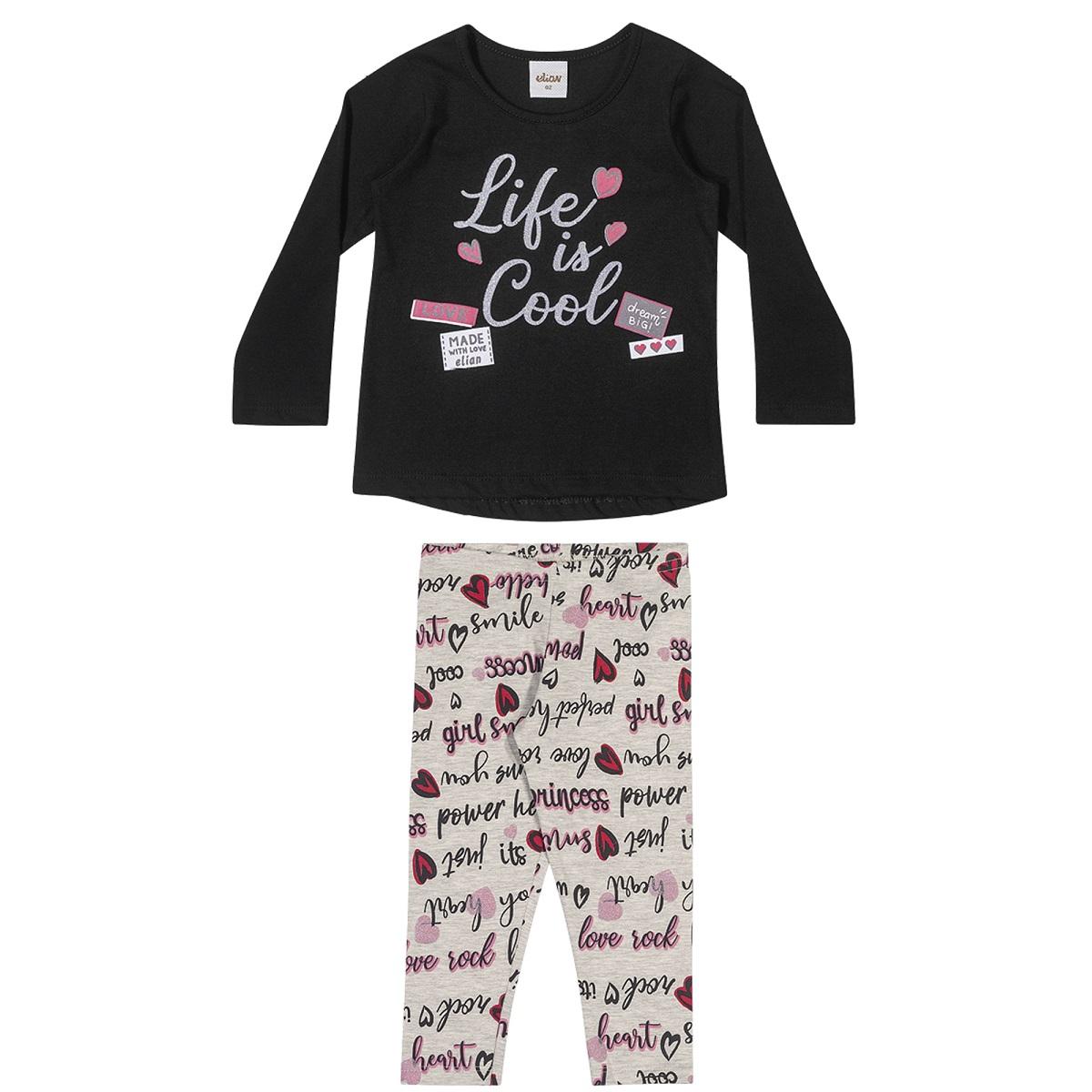 Conjunto Infantil Feminino Blusa e Legging - ELIAN 231457