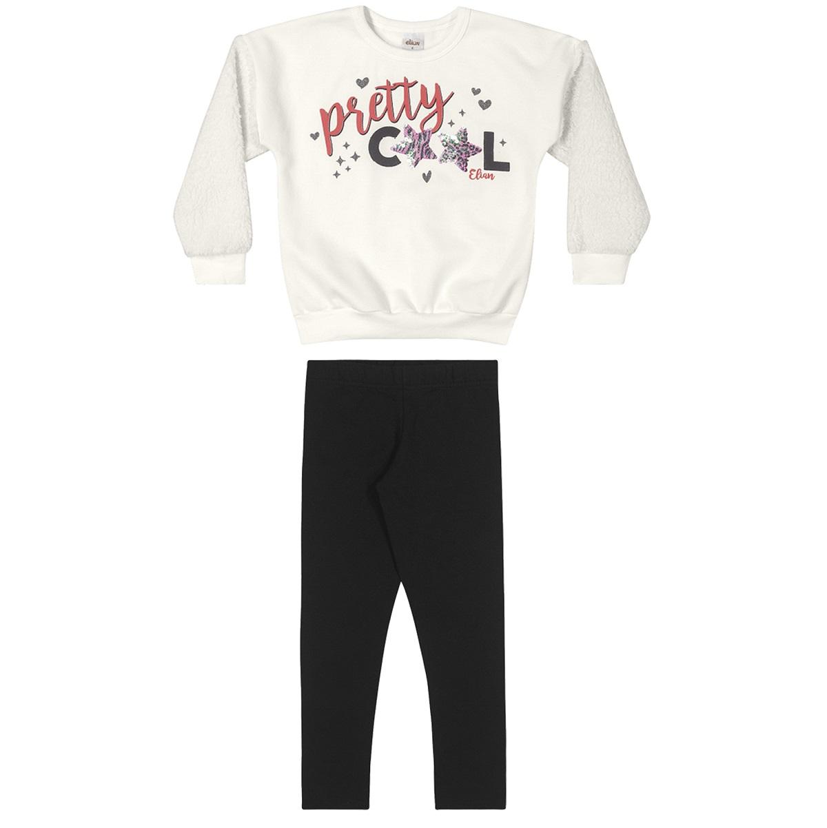 Conjunto Infantil Feminino Blusa e Legging - ELIAN 251406
