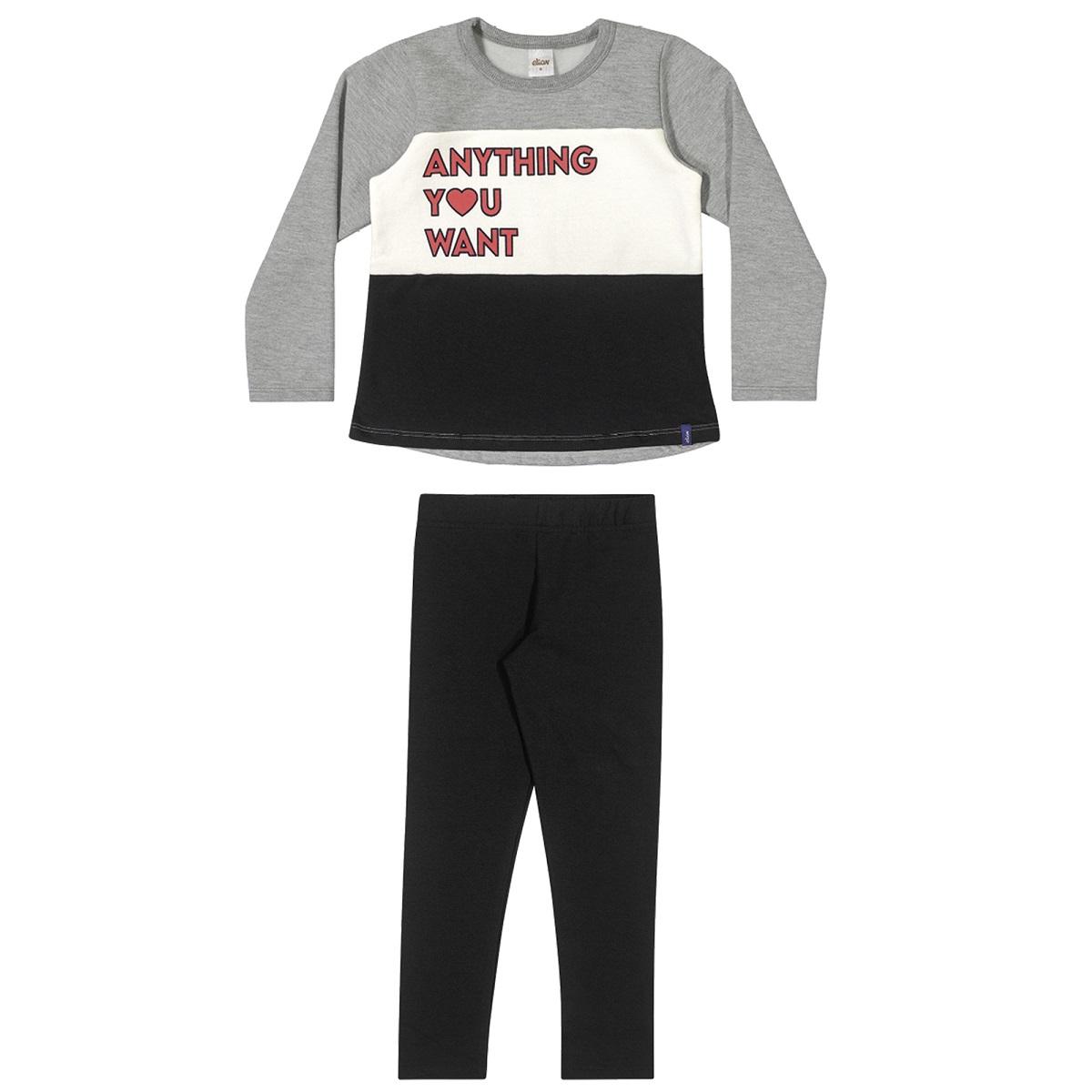 Conjunto Infantil Feminino Blusa e Legging - ELIAN 251415