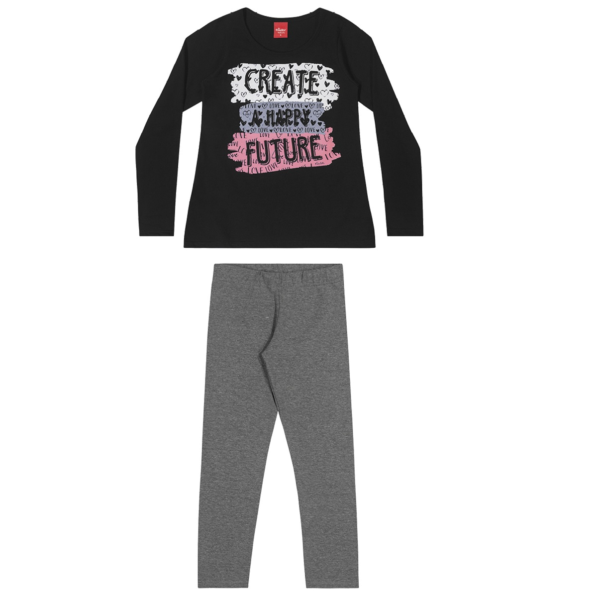 Conjunto Infantil Feminino Blusa e Legging - ELIAN 251421