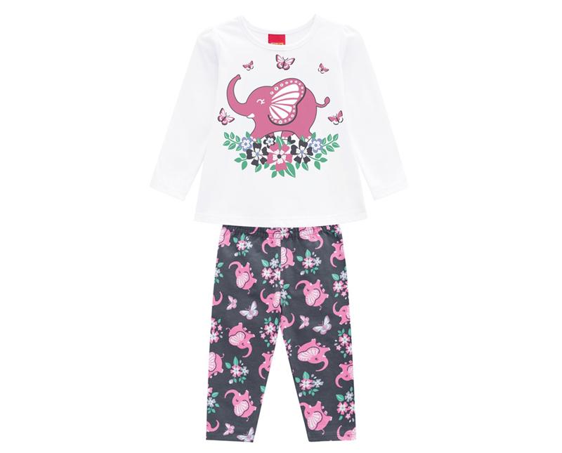 Conjunto Infantil Feminino Blusa e Legging - KYLY 207097