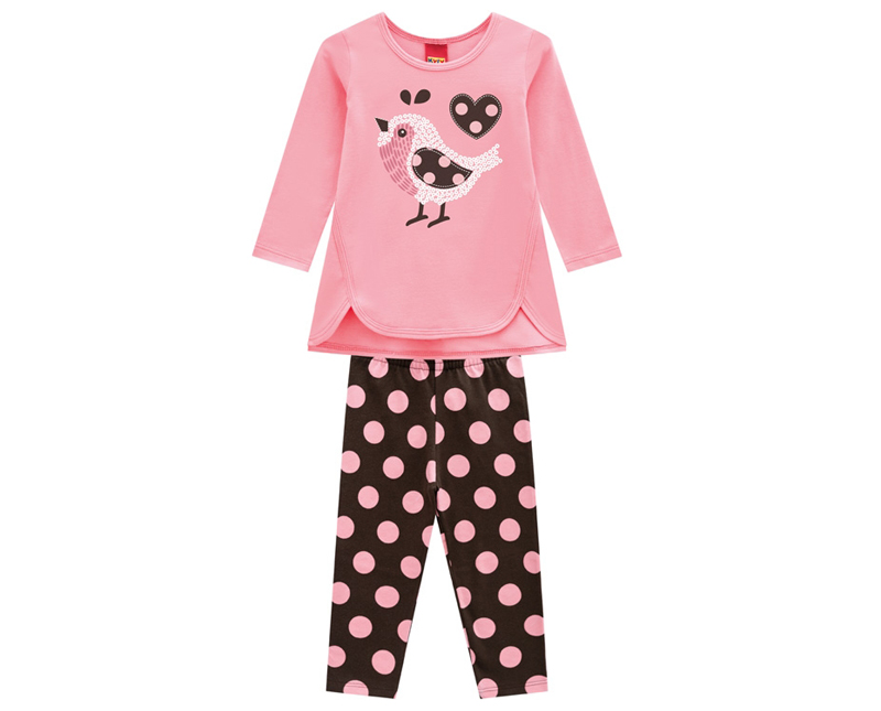 Conjunto Infantil Feminino Blusa e Legging - KYLY 207099