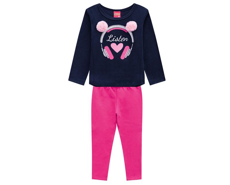 Conjunto Infantil Feminino Blusa e Legging - KYLY 207113