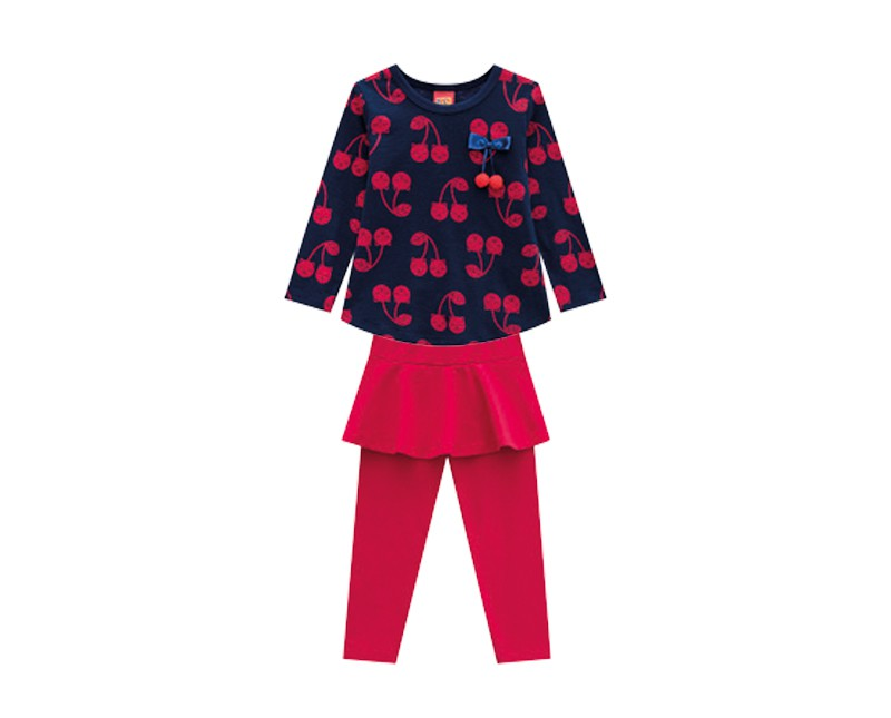 Conjunto Infantil Feminino Blusa e  Legging - KYLY 207124