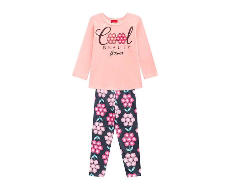 Conjunto Infantil Feminino Blusa e Legging- KYLY 207125