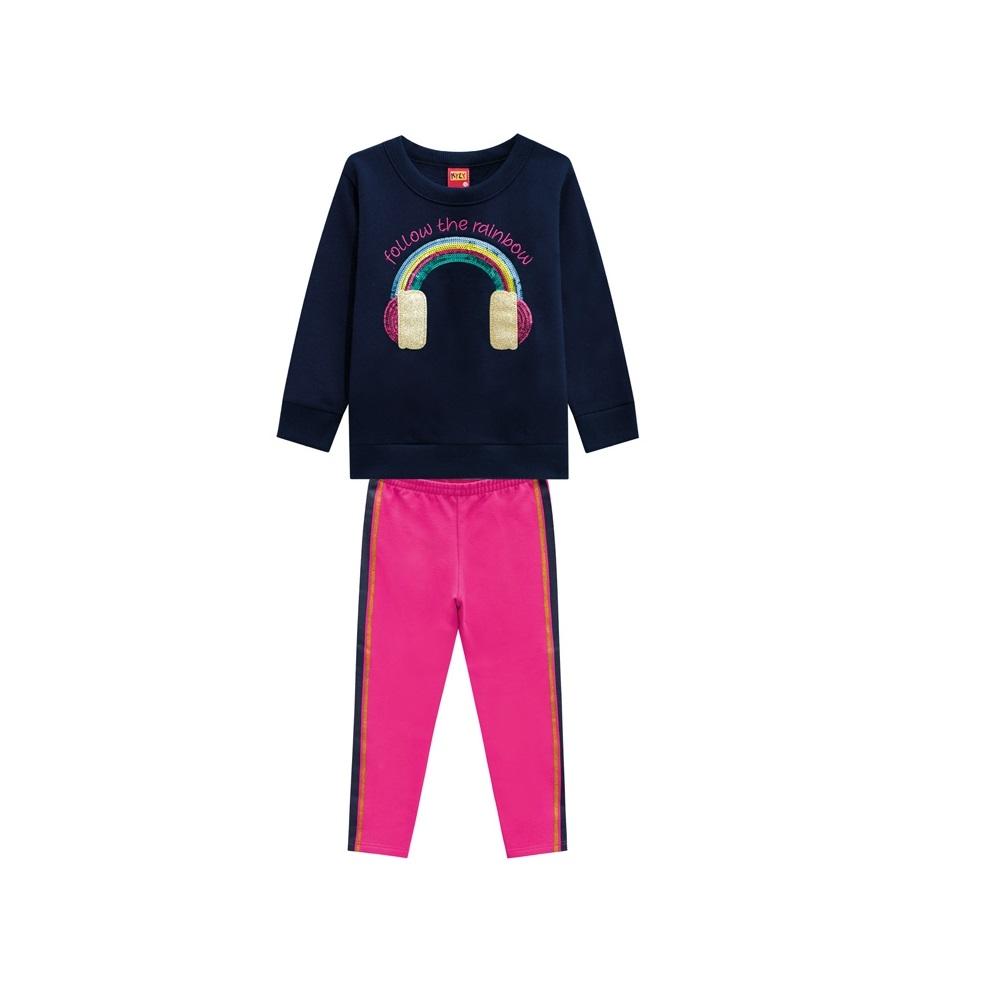 Conjunto Infantil Feminino Blusa e Legging - Kyly 207130