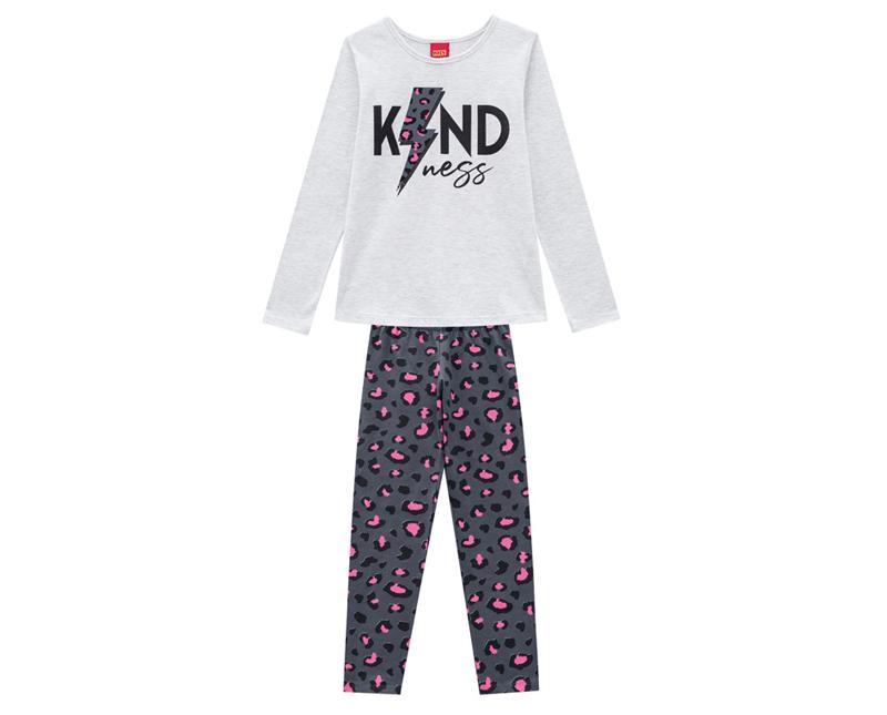 Conjunto Infantil Feminino Blusa e  Legging - KYLY 207156