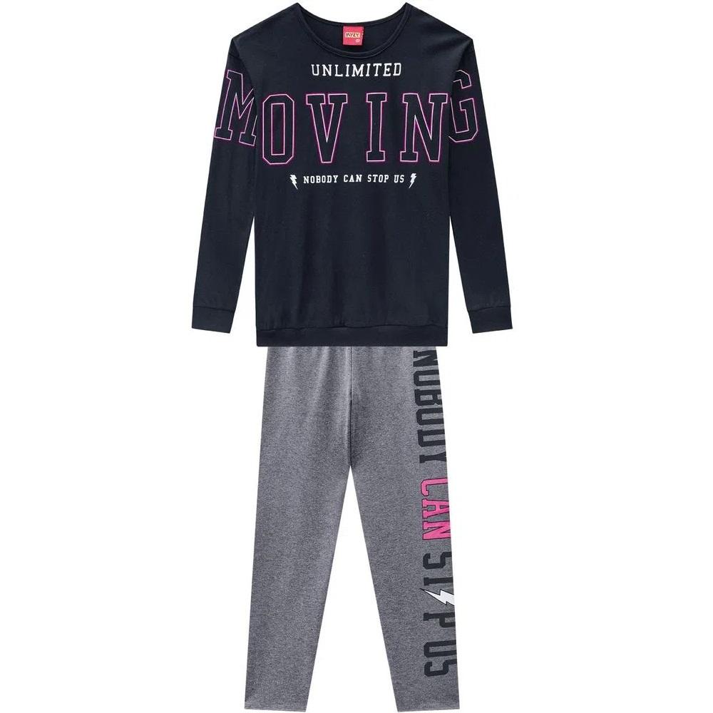 Conjunto Infantil Feminino Blusa E Legging  Moving - KYLY 207500