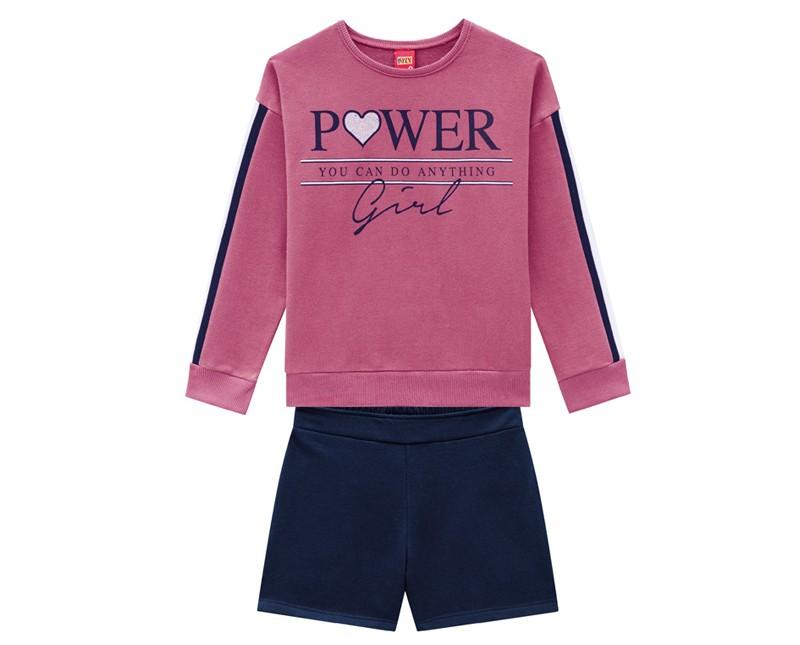 Conjunto Infantil Feminino Blusa e Short- KYLY 207158