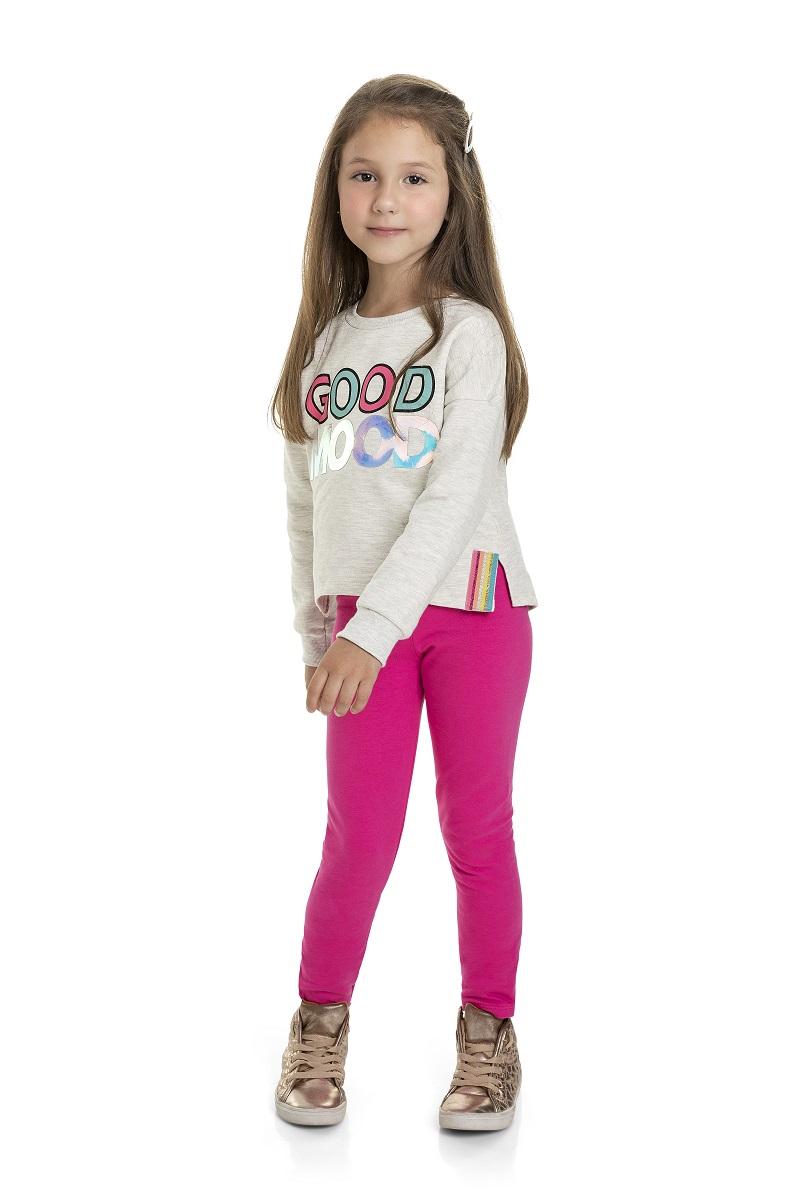 Conjunto Infantil Feminino Blusão e Calça - MARLAN 24668