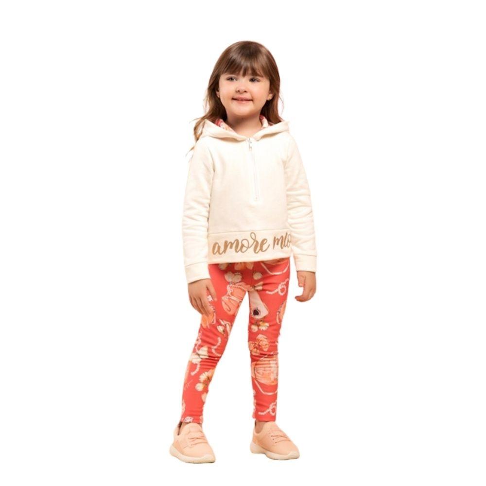 Conjunto Infantil Feminino Blusão e Legging - MARLAN 27117