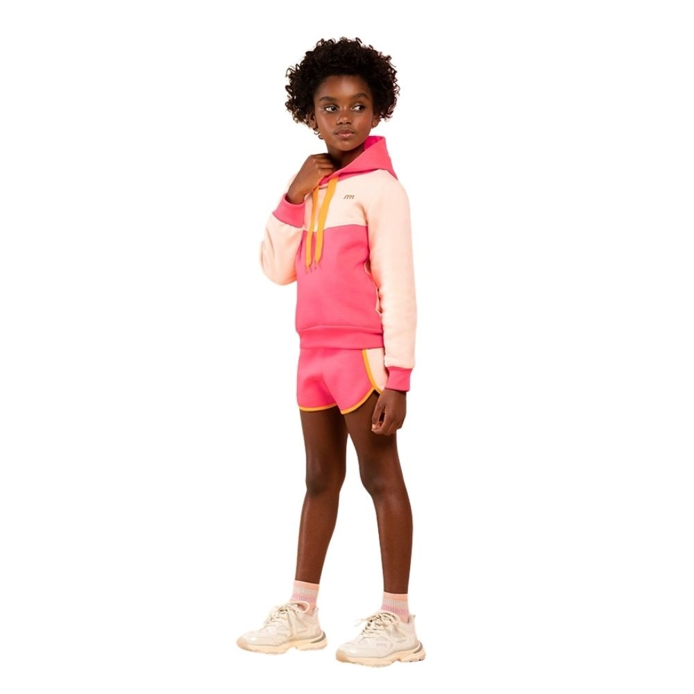 Conjunto Infantil Feminino Blusão e Shorts - MARLAN 29418