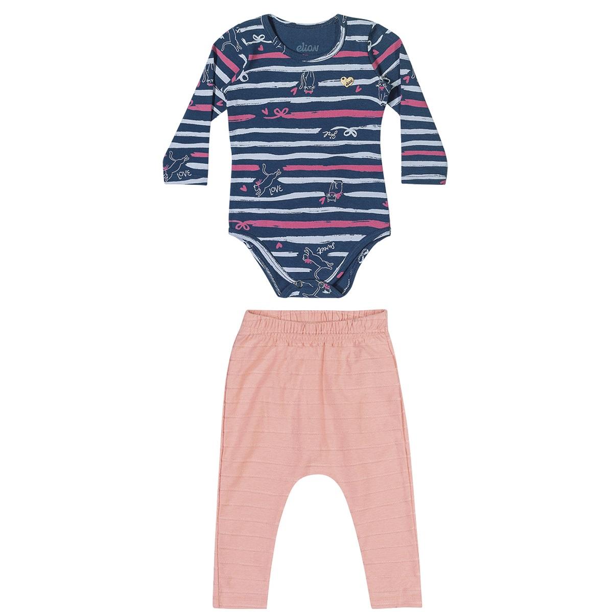 Conjunto Infantil Feminino Body e Calça - ELIAN 211129