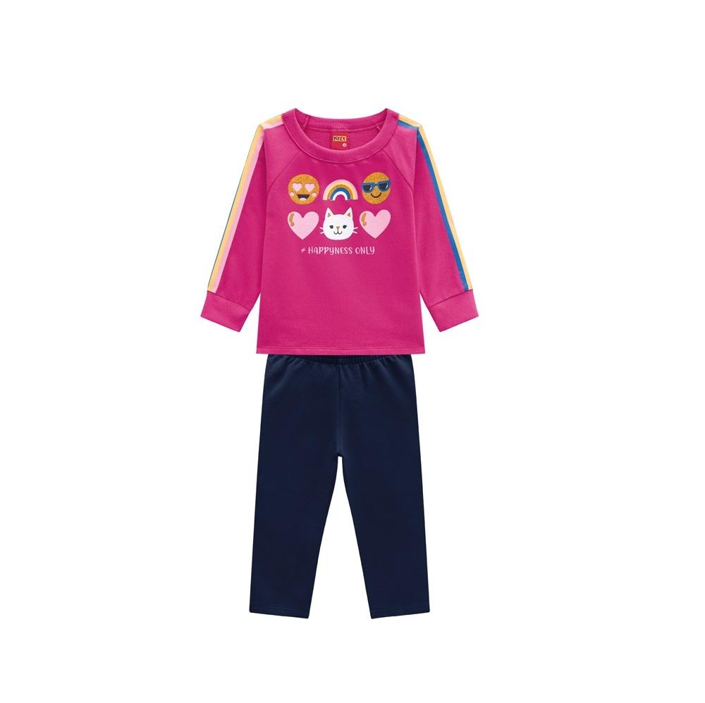 Conjunto Infantil Feminino Casaco e Legging - KYLY 207112