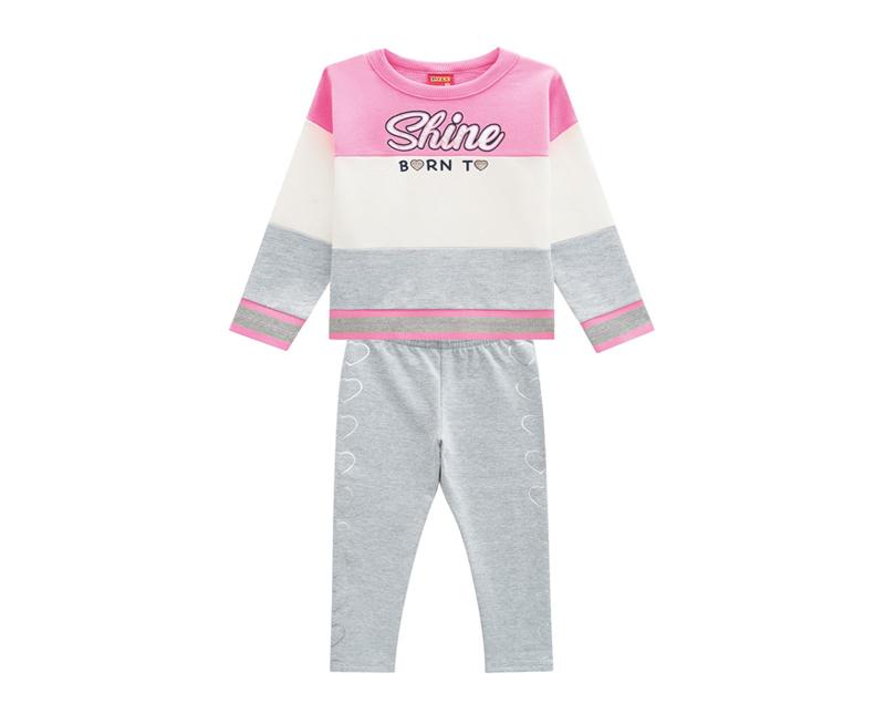 Conjunto Infantil Feminino Casaco e  Legging- KYLY 207132