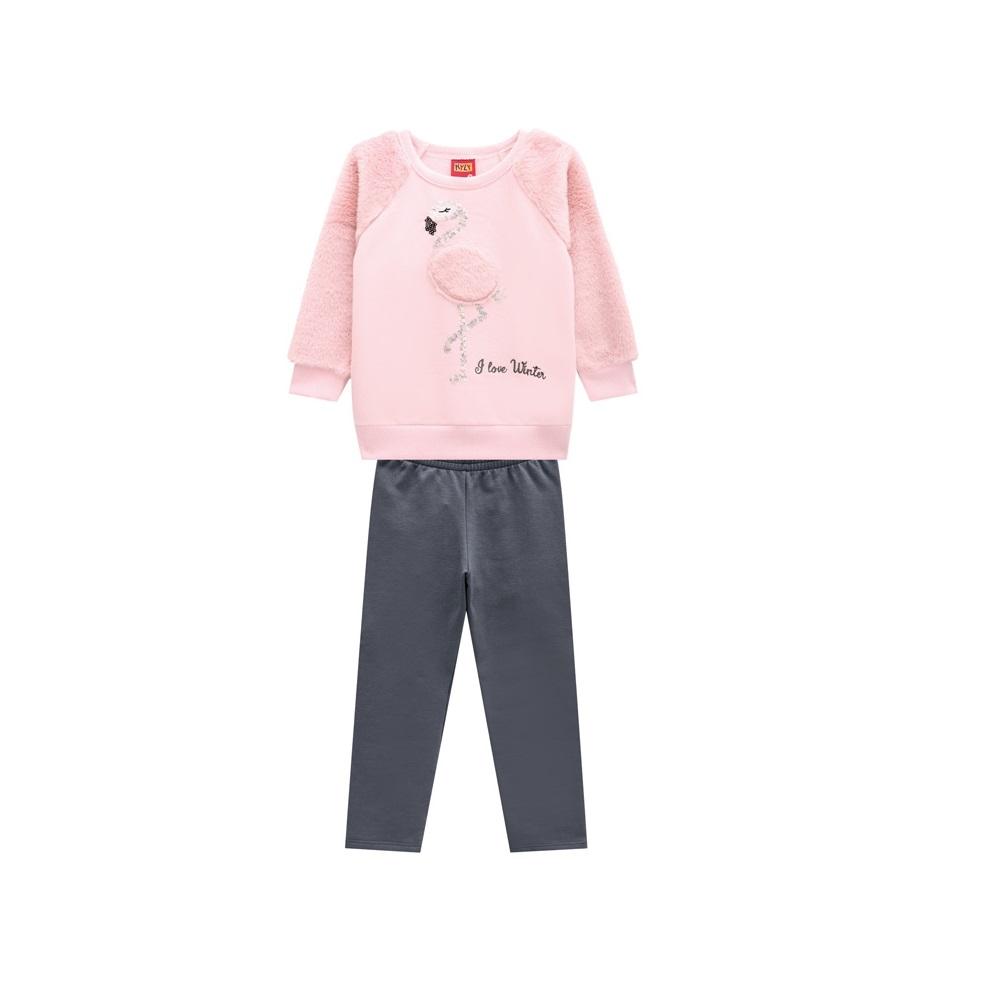 Conjunto Infantil Feminino Casaco e Legging - KYLY 207133