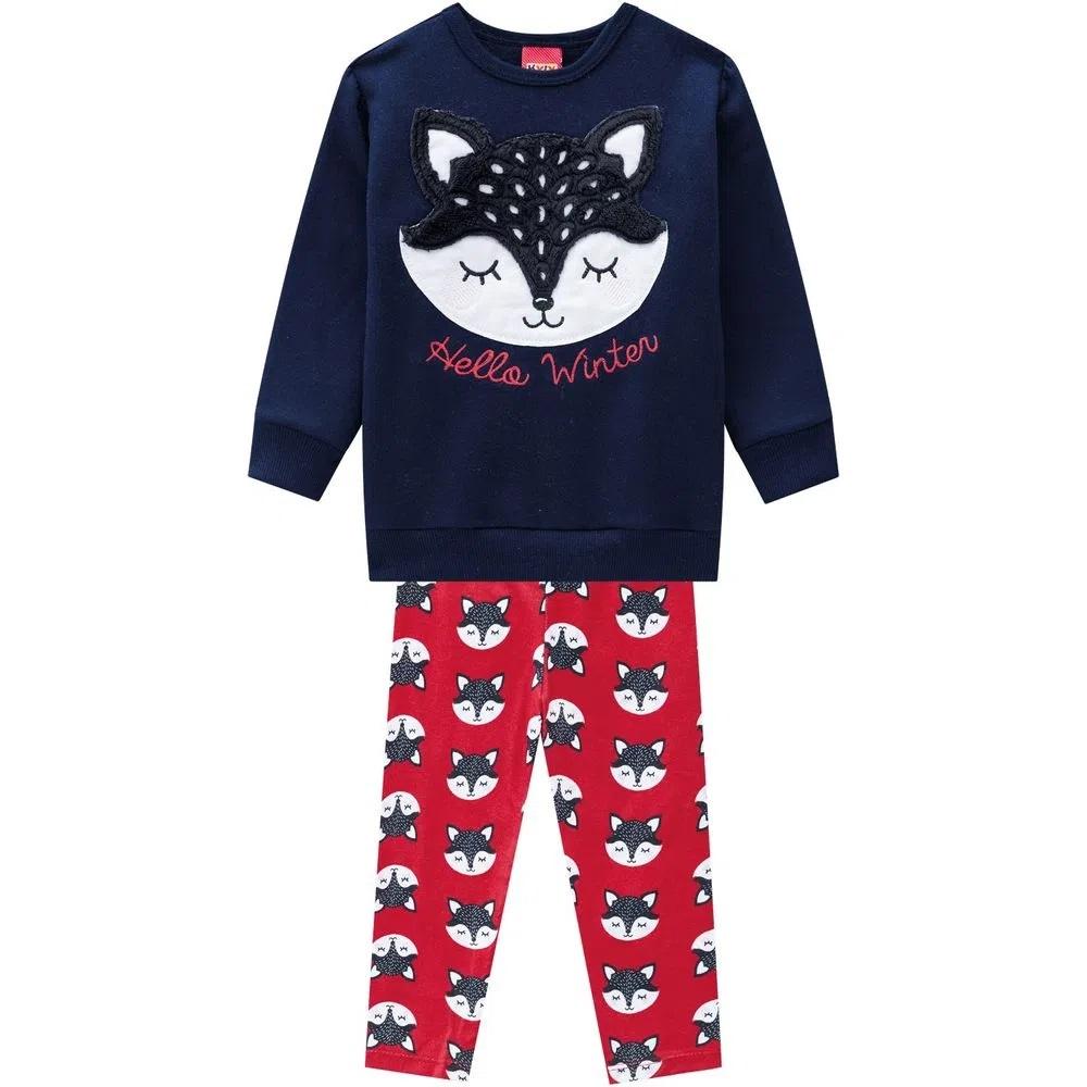 Conjunto Infantil Feminino Casaco E Legging  -KYLY 207353