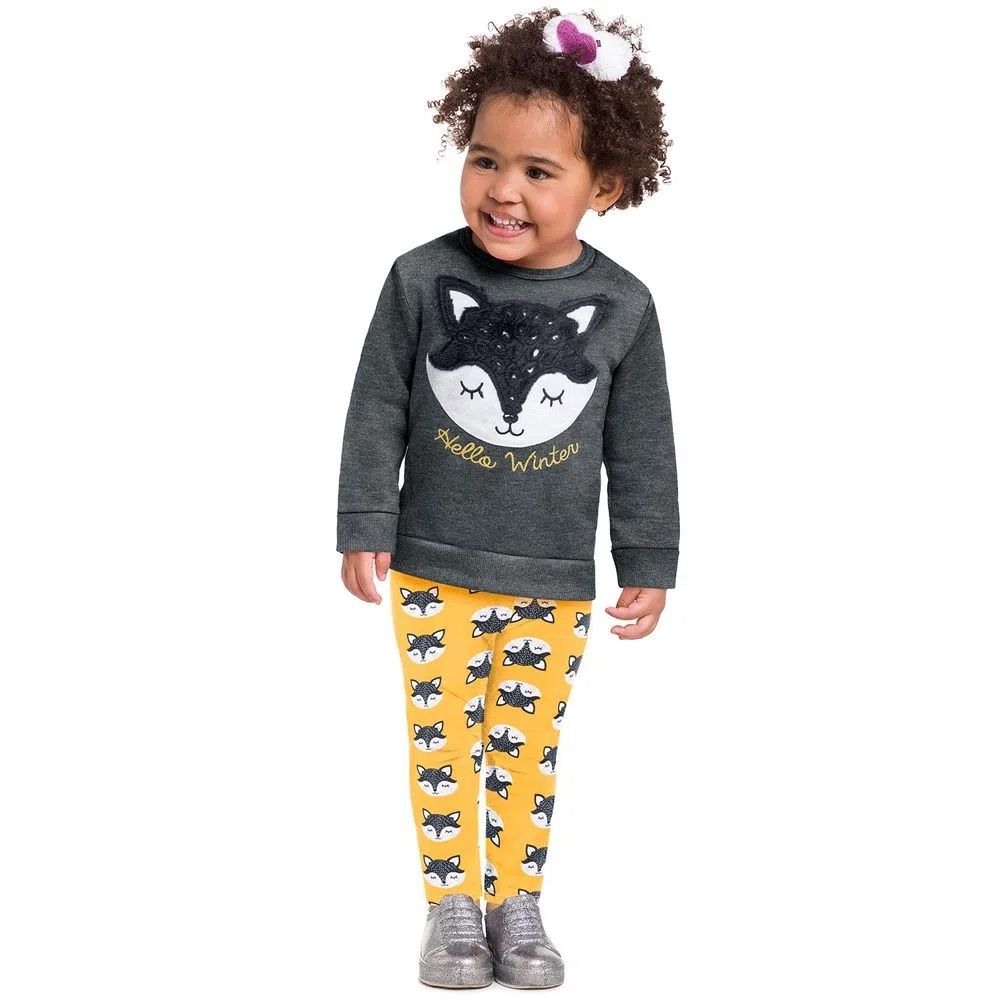 Conjunto Infantil Feminino Casaco E Legging - KYLY 207353