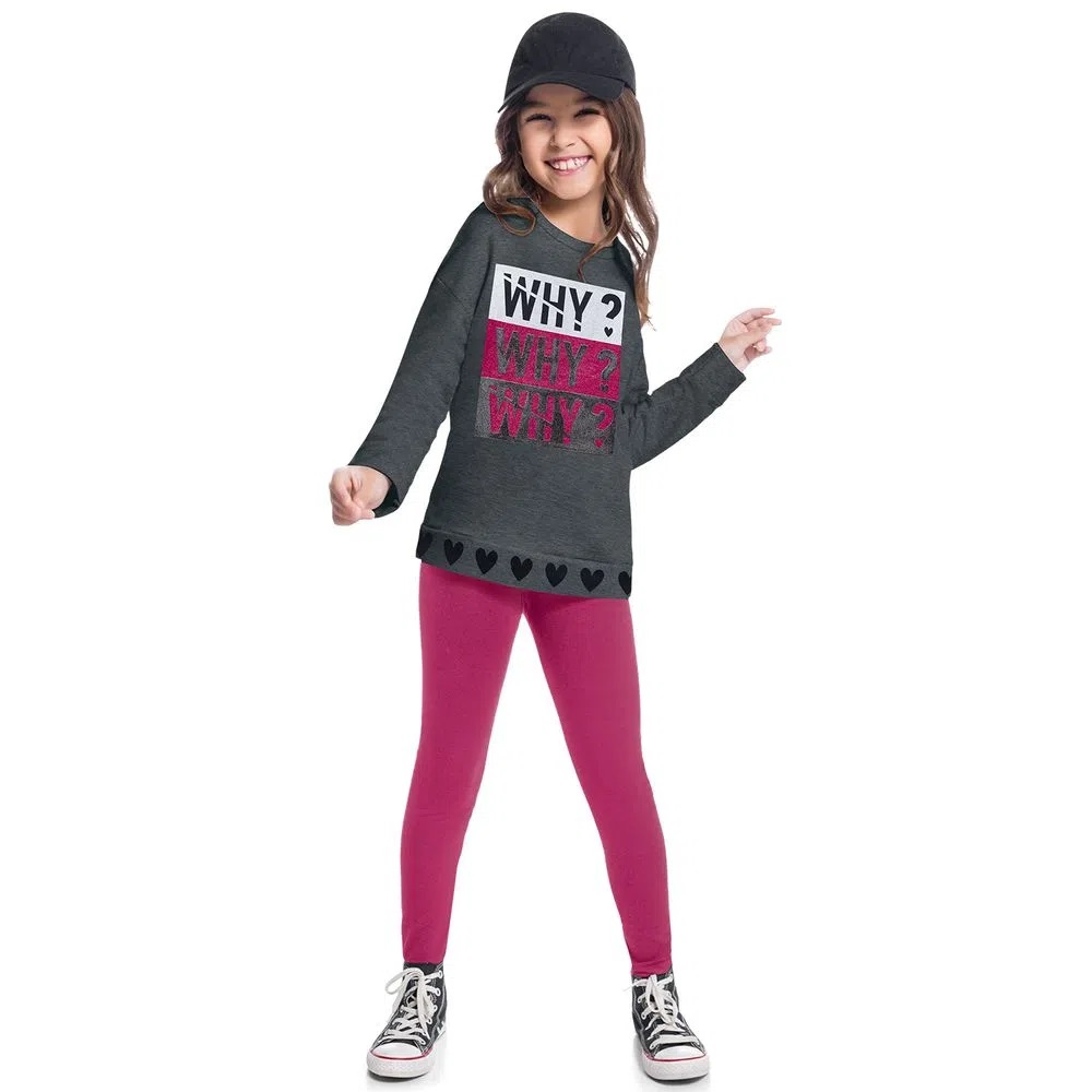 Conjunto Infantil Feminino Casaco E Legging  - KYLY 207414