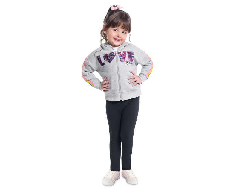 Conjunto Infantil Feminino Jaqueta e Legging - KYLY 207134