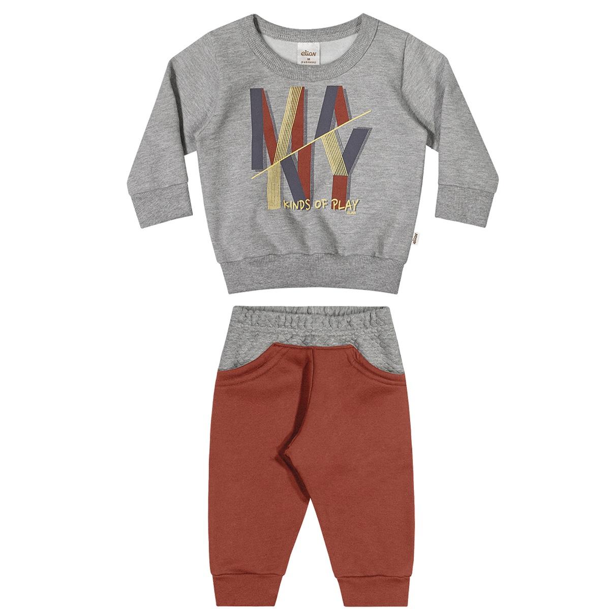 Conjunto Infantil Masculino Blusão e Calça - ELIAN 20926