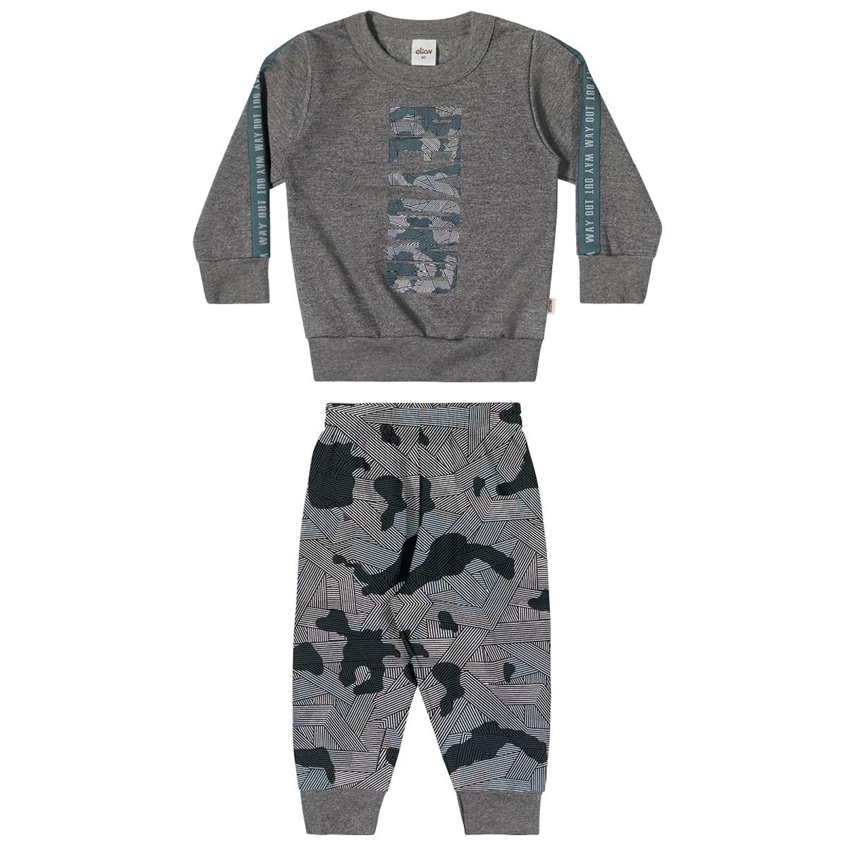 Conjunto Infantil Masculino Blusão e Calça - ELIAN 221111