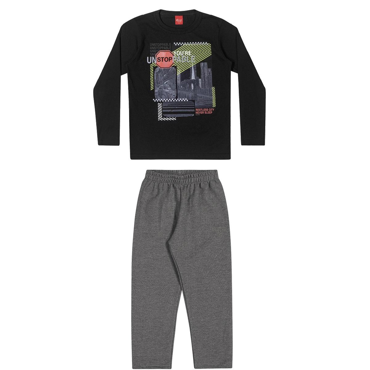 Conjunto Infantil Masculino Camiseta e Calça - ELIAN 241045