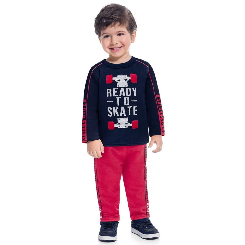 Conjunto Infantil Masculino Casaco E Calça - KYLY 207469